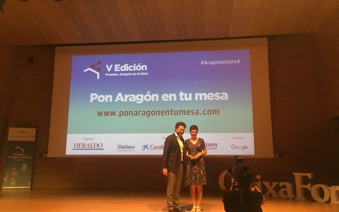 Premio para la web de Pon Aragón en tu mesa – Aragón en la Red