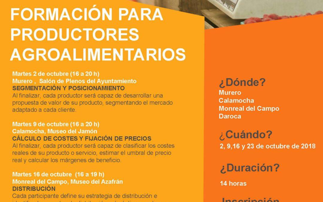 Pon Aragón en tu mesa continúa formando a los productores del medio rural