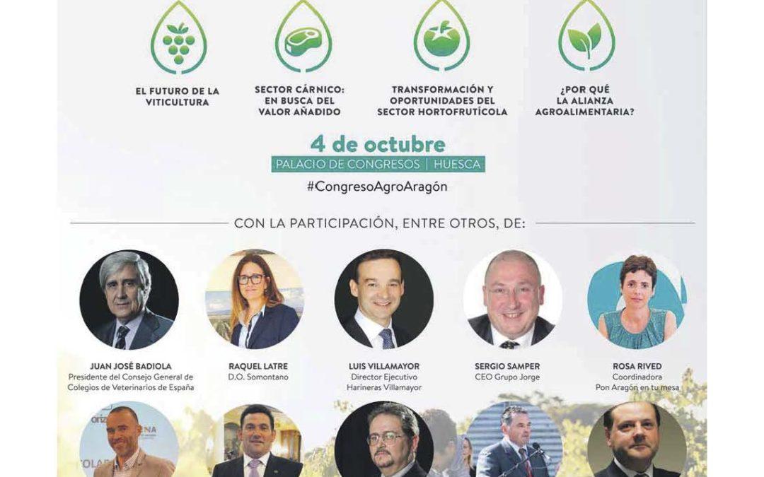 Pon Aragón en tu mesa participa en el Congreso Agroalimentario Aragón
