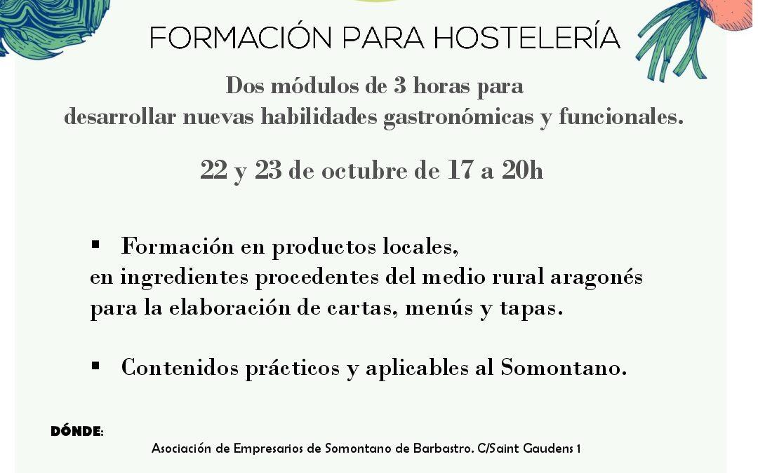 Formación a restaurantes en el Somontano de Barbastro