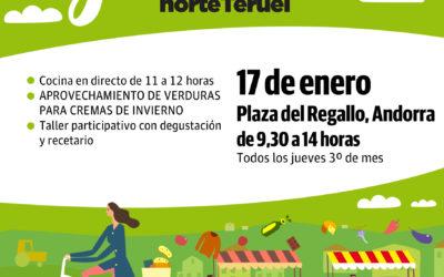 Mercado Local y agroecológico norte Teruel 17 enero en Andorra