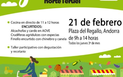 Mercado Local y agroecológico norte Teruel 21 de Febrero en Andorra