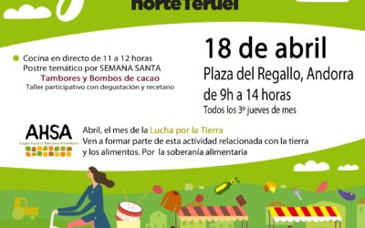 Mercado Local y agroecológico norte Teruel 18 de Abril en Andorra