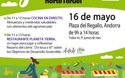 Mercado Local y agroecológico norte Teruel 16 de Mayo en Andorra
