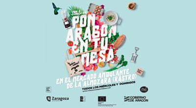 Pon Aragón en tu mesa en Zaragoza, en el Mercado Ambulante de la Almozara