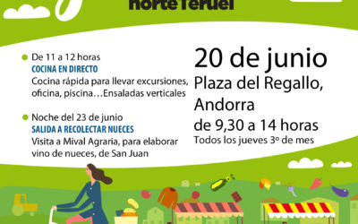 Mercado Local y agroecológico norte Teruel 20 de Junio en Andorra