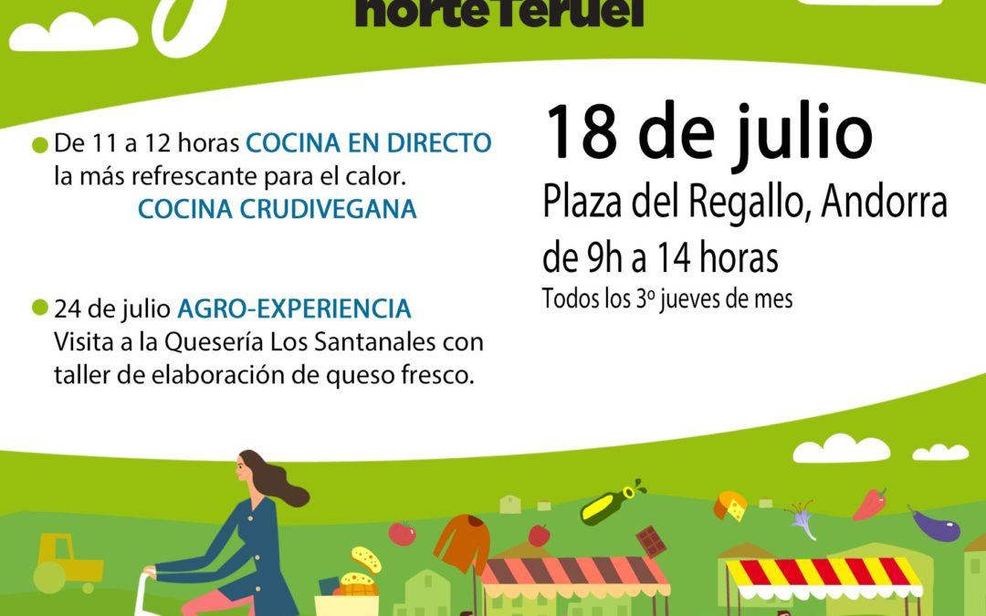 Mercado Local y agroecológico norte Teruel 18 de Julio en Andorra