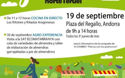 Mercado Local y agroecológico norte Teruel 19 de Septiembre en Andorra