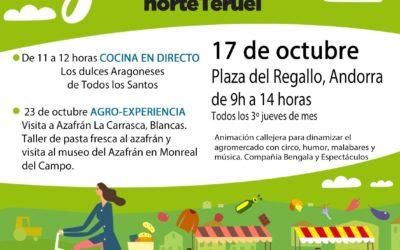 Mercado Local y agroecológico norte Teruel 17 de Octubre en Andorra