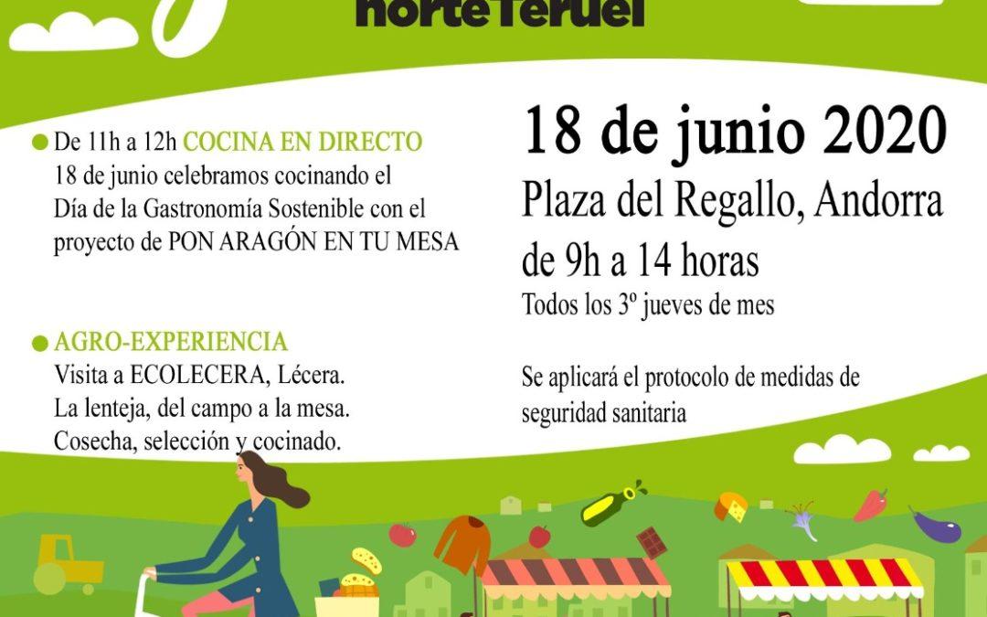 Mercado Local y Agroecológico Norte Teruel jueves, 18 de Junio en Andorra