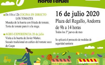 Mercado Local y Agroecológico Norte Teruel  y Taller de Tomates jueves, 16 de Julio en Andorra