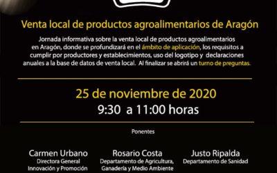 Webinar Ley de Venta Local de Productos Agroalimentarios de Aragón