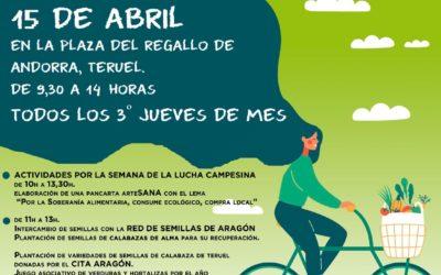 Mercado Agroecológico norte Teruel, jueves 15 de abril