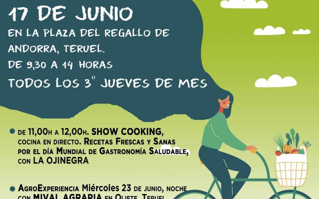 Mercado Agroecológico norte Teruel, jueves 17 de junio