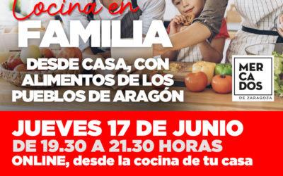 Taller de Cocina on line en familia con productos de Aragón