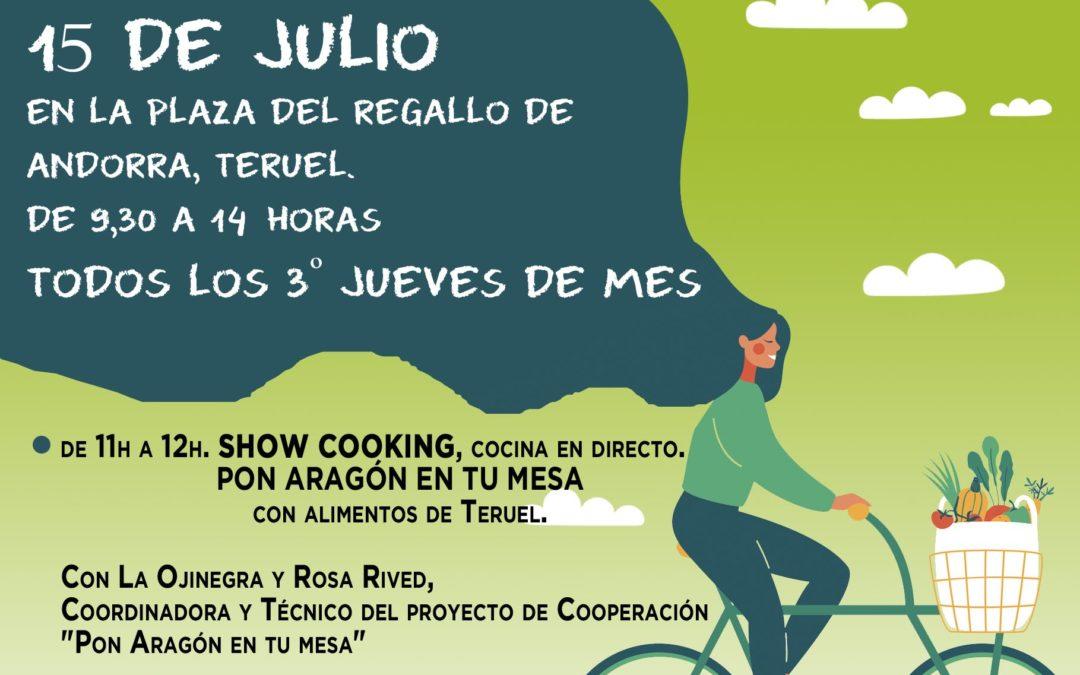 Mercado Agroecológico norte Teruel, jueves 15 de Julio