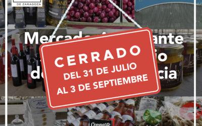 El mercado agroalimentario de Parque Venecia de vacaciones hasta Septiembre