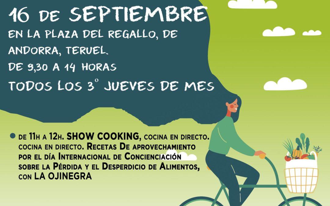 Mercado Agroecológico norte Teruel, jueves 16 de Septiembre