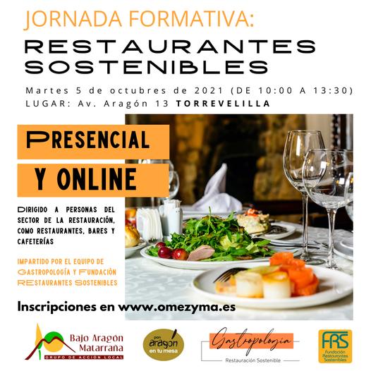 Jornada sobre restaurantes sostenibles en Torrevelilla el 5 de Octubre