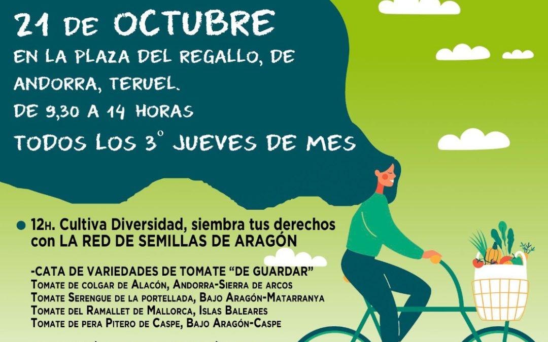 Mercado Agroecológico norte Teruel, jueves 21 de Octubre