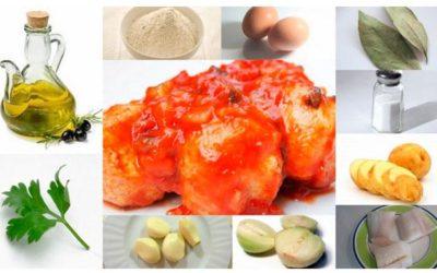 Bolitas de bacalao con salsa de tomate