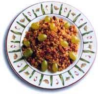 Migas con jamón y uva